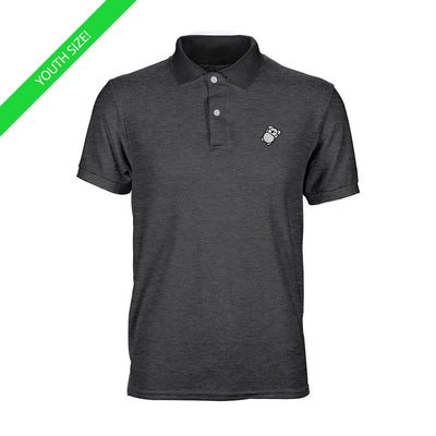Fat Koala Youth Polo Dark Heather