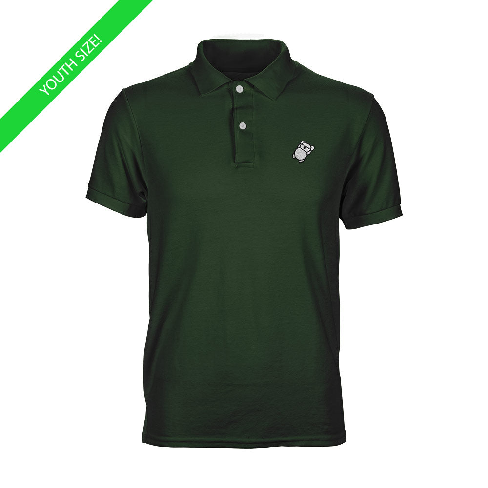 Fat Koala Youth Polo Forest Green