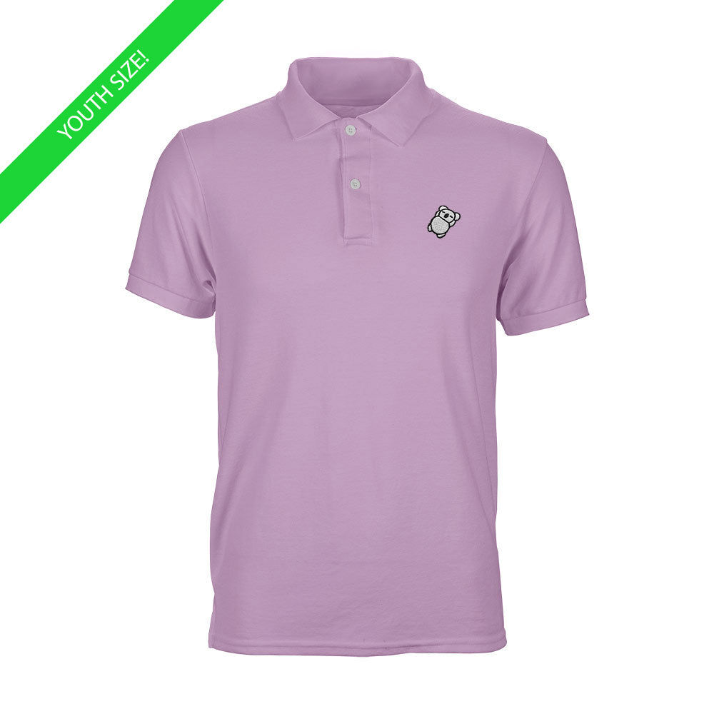 Fat Koala Youth Polo Light Pink
