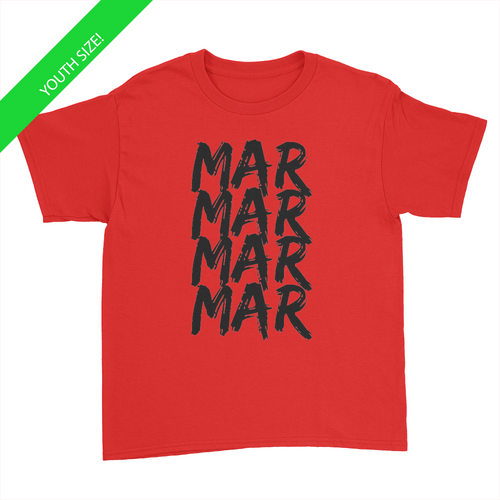 MarMar Stacked - Youth T-Shirt Red