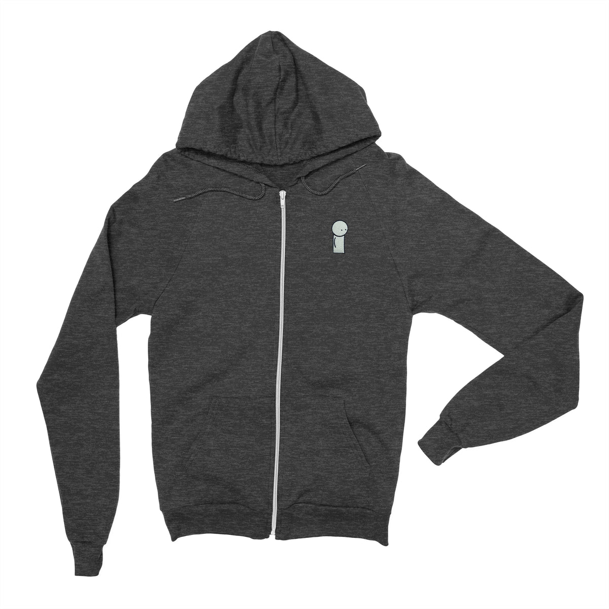 Oversimplified - Embroidered Zip Hoodie