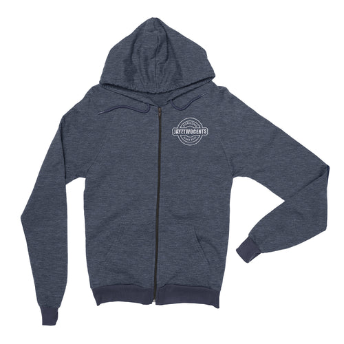 Digress - Premium Embroidered Zip Hoodie