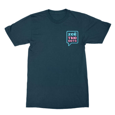 Pink & Blue Embroidered Logo T-Shirt