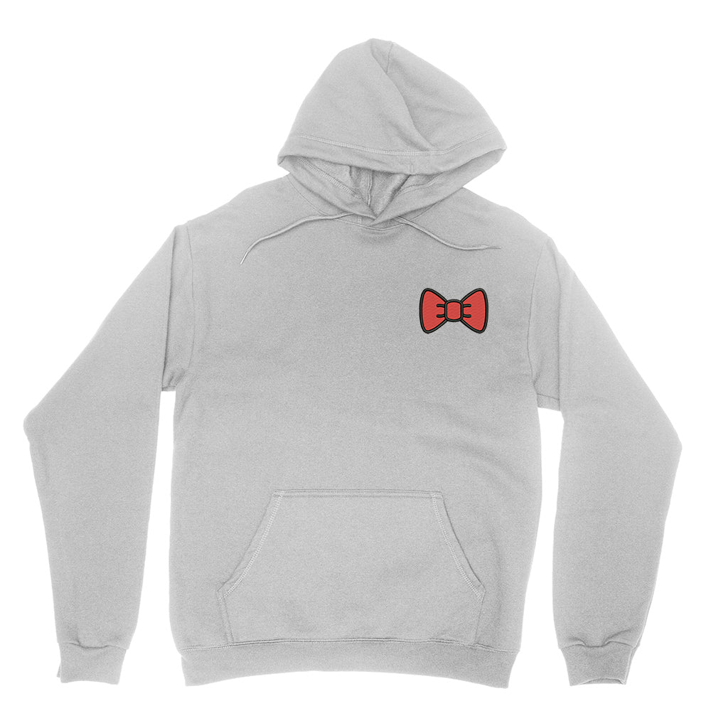 Red Bow Embroidered Hoodie