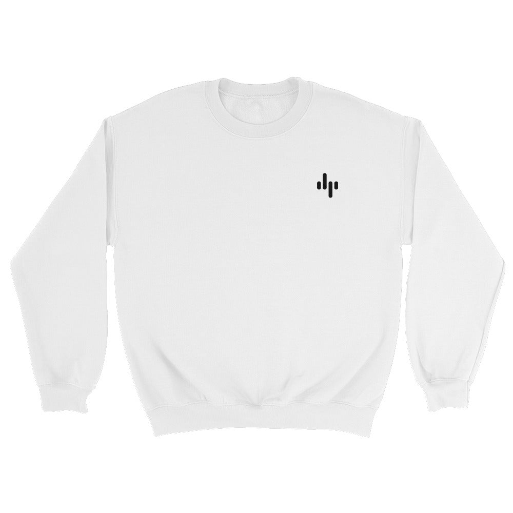 dp Logo Embroidered Crewneck White