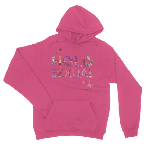 Holosexual - Rose Gold Holo - Unisex Pullover Hoodie Heliconia Pink