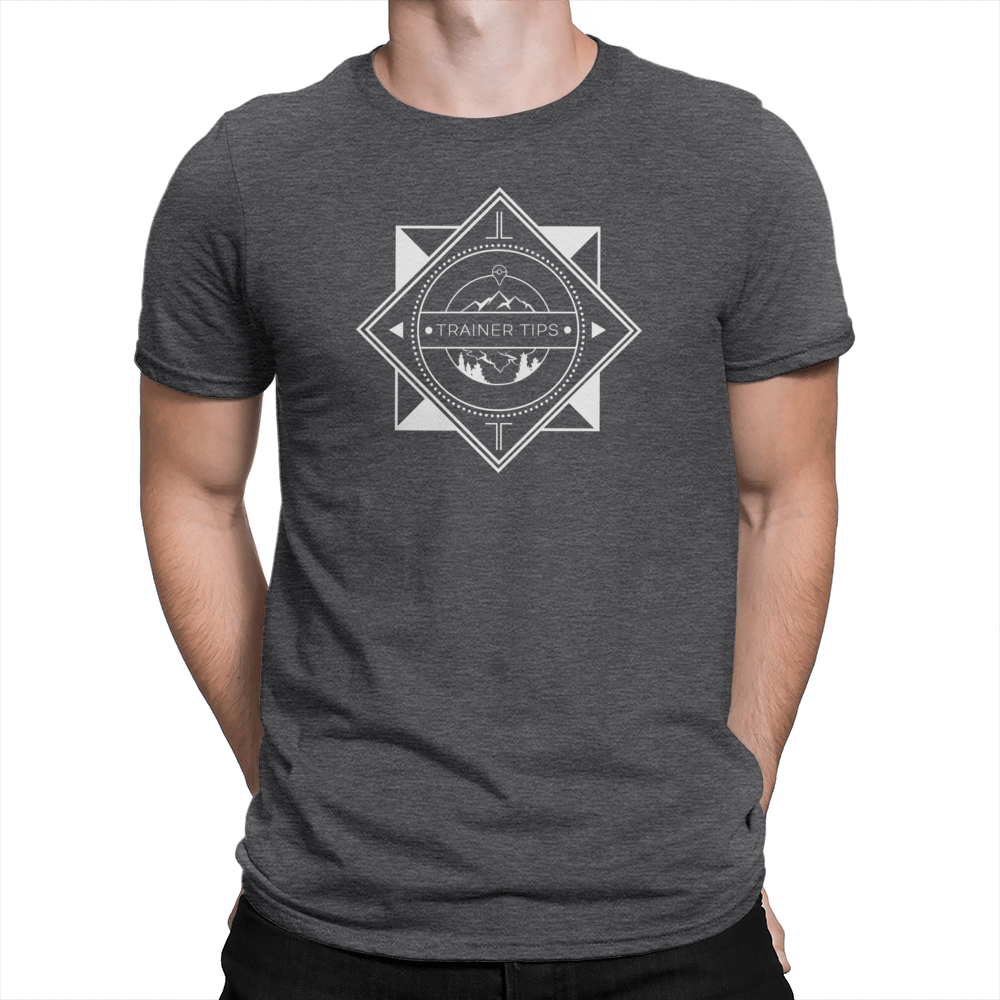Trainer Tips Logo - Unisex Shirt Heather Charcoal