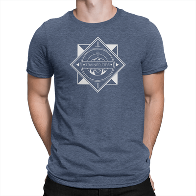 Trainer Tips Logo - Unisex Shirt Heather Navy