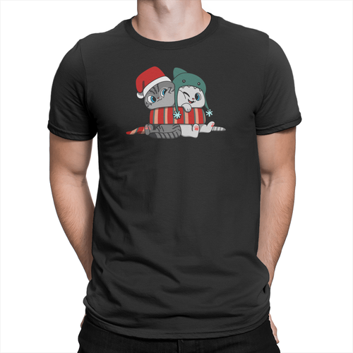 Nala and Coffee Snuggle Scarf Holiday Unisex Shirt Black