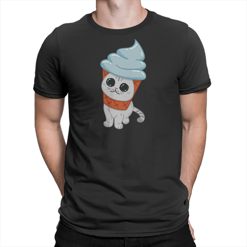 Coffee Ice Cream Cone Unisex Shirt Black