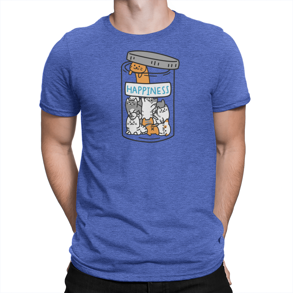 Happiness Jar Unisex Shirt Heather Royal