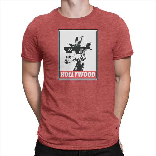 Hollywood Giraffe - Unisex T-Shirt Heather Red