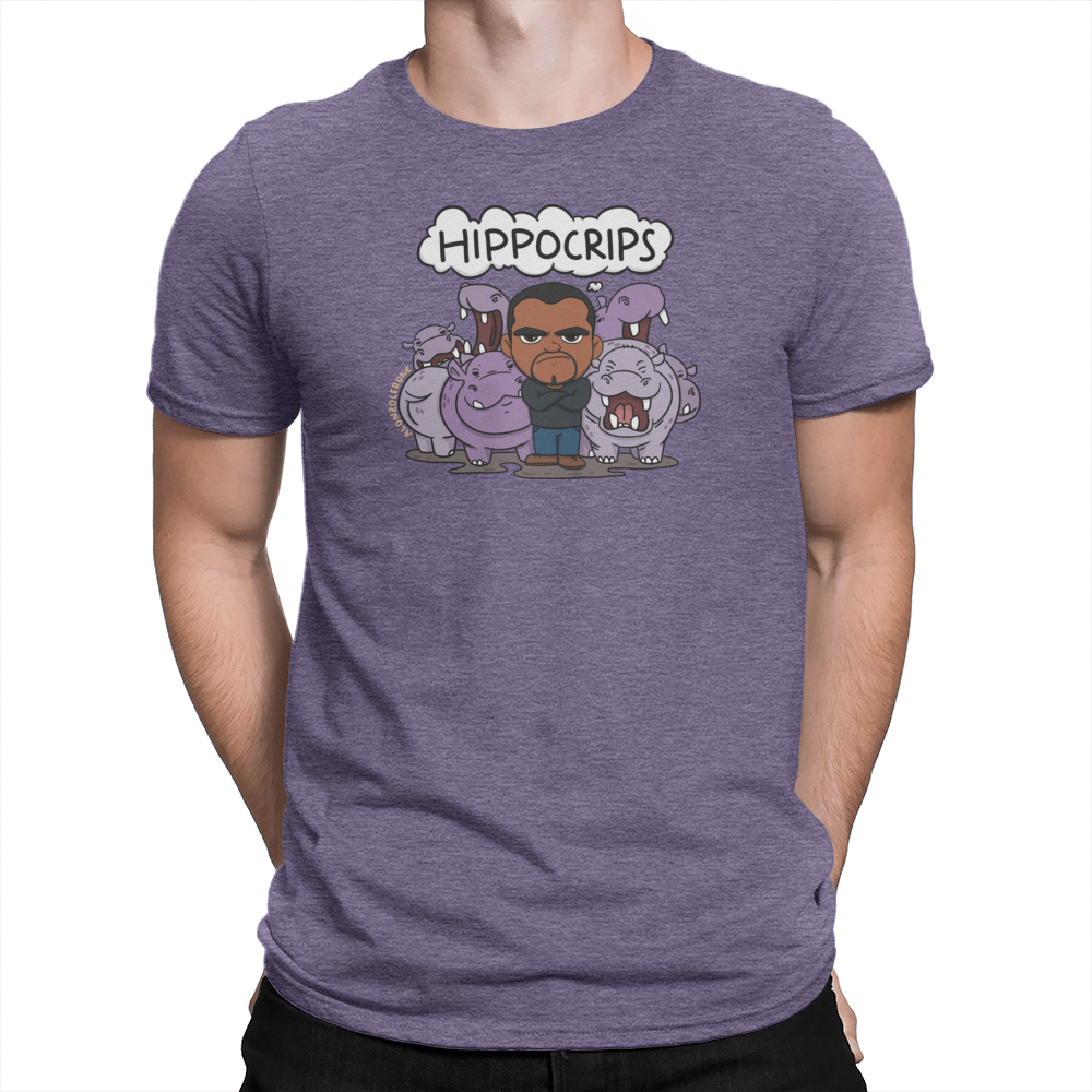 Hippocrips Unisex Shirt Heather Purple