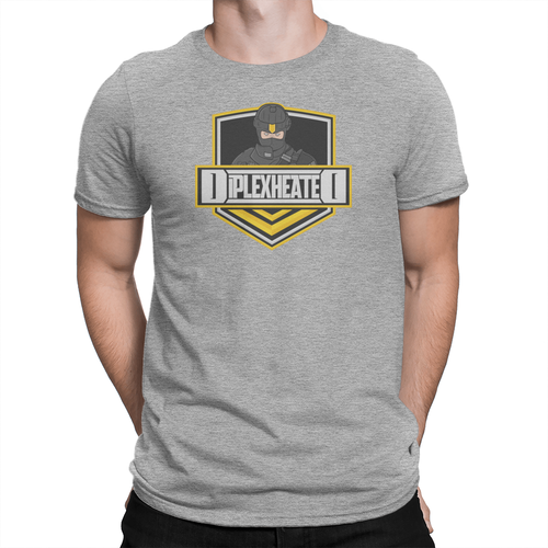 DiplexHeated Logo - Unisex Shirt Light Heather Grey