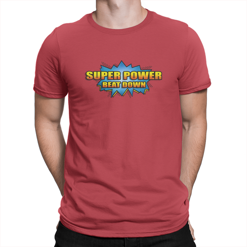 Super Power Beat Down - Unisex T-Shirt Red