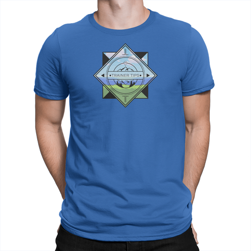 Trainer Tips Color Logo - Unisex T-Shirt True Royal