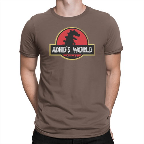 ADHD's World - Unisex T-Shirt Brown