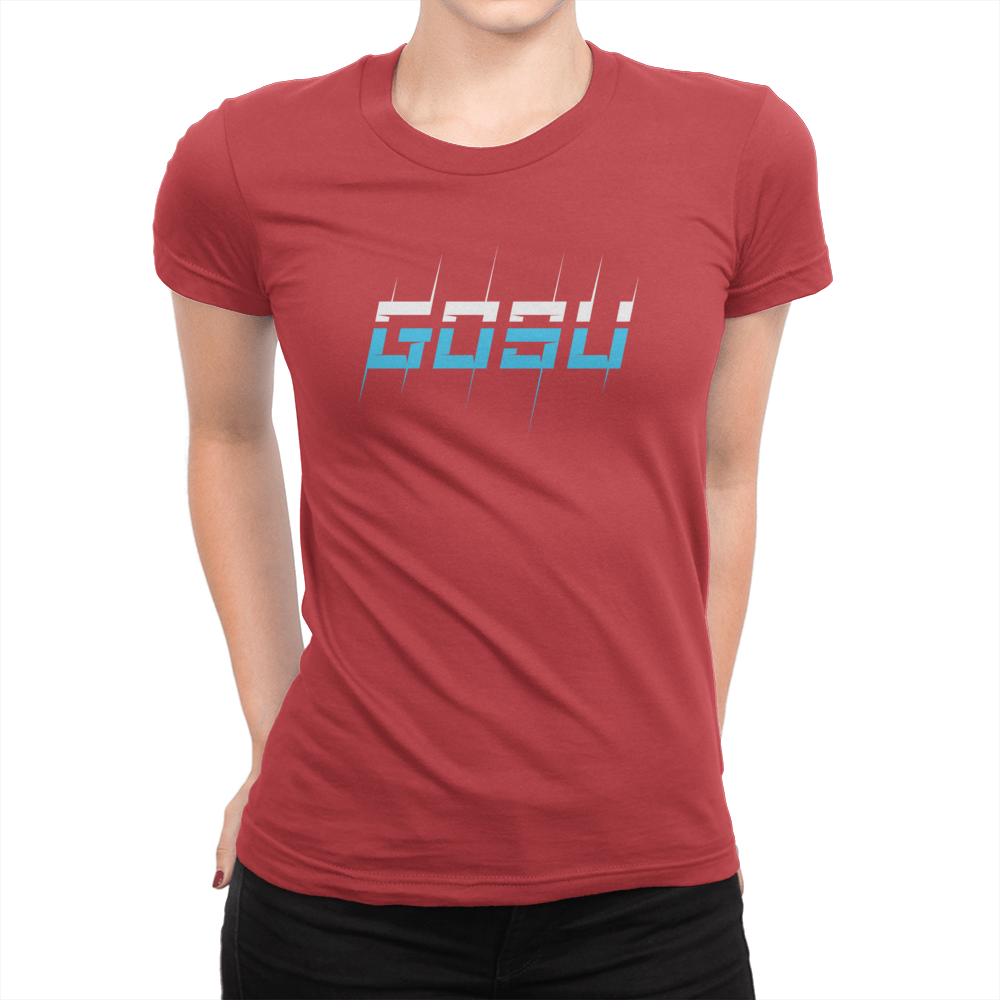 Two Tone - Ladies T-Shirt Red