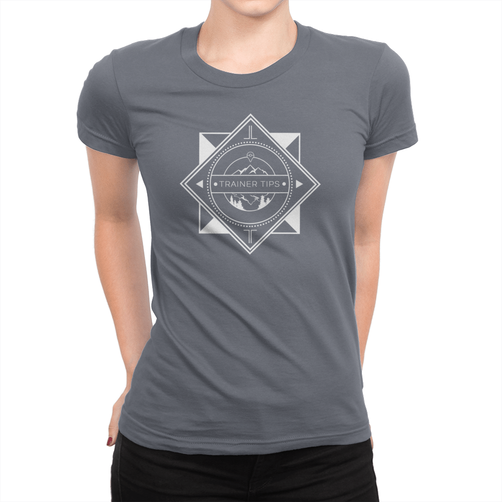 Trainer Tips Logo - Ladies T-Shirt Asphalt