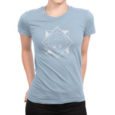 Trainer Tips Logo - Ladies T-Shirt Baby Blue