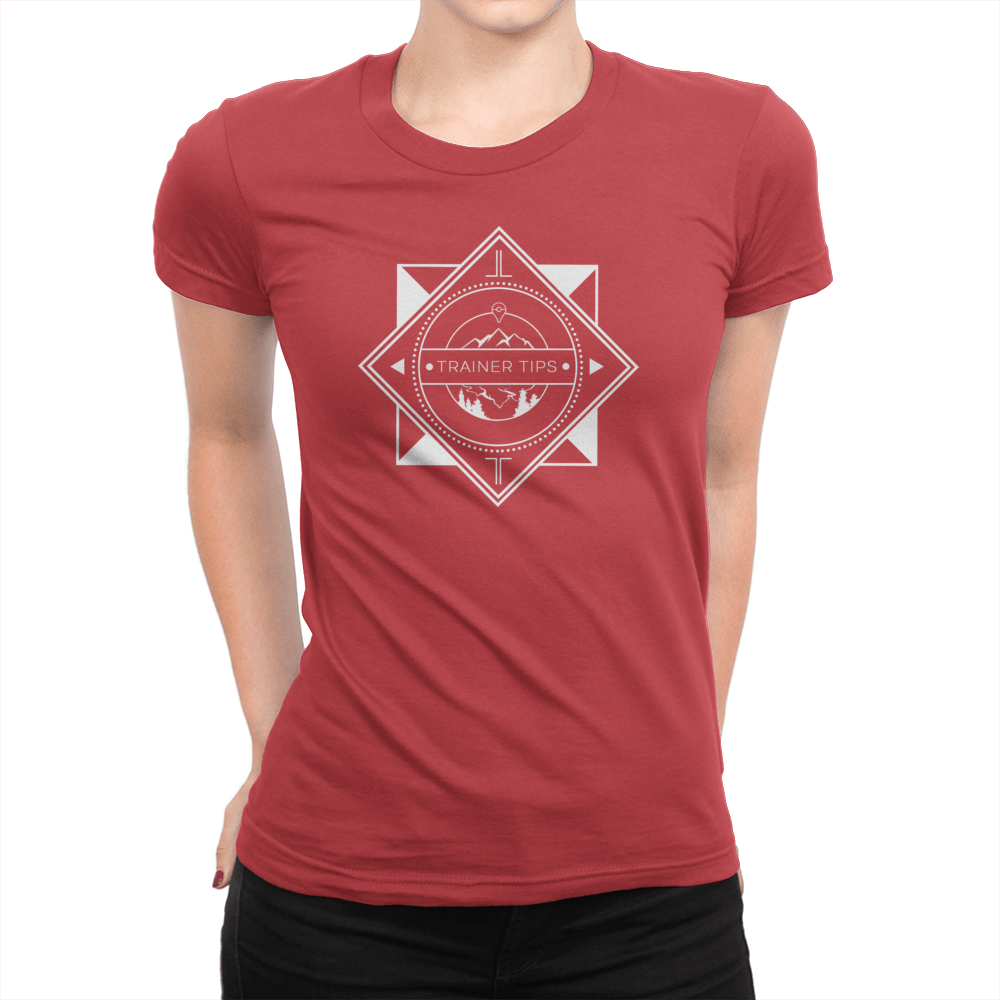 Trainer Tips Logo - Ladies T-Shirt Red