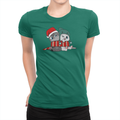 Nala and Coffee Snuggle Scarf Holiday Ladies Shirt