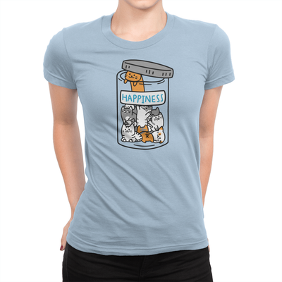 Happiness Jar Ladies Shirt Baby Blue