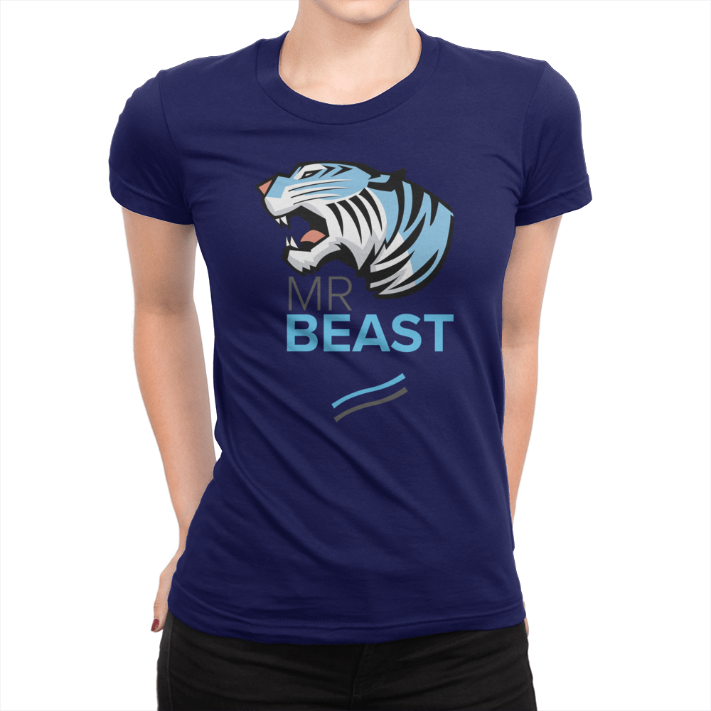 Tiger Lines - Ladies T-Shirt Navy