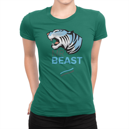 Tiger Lines - Ladies T-Shirt Kelly