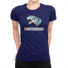 Play Button - Ladies T-Shirt Navy