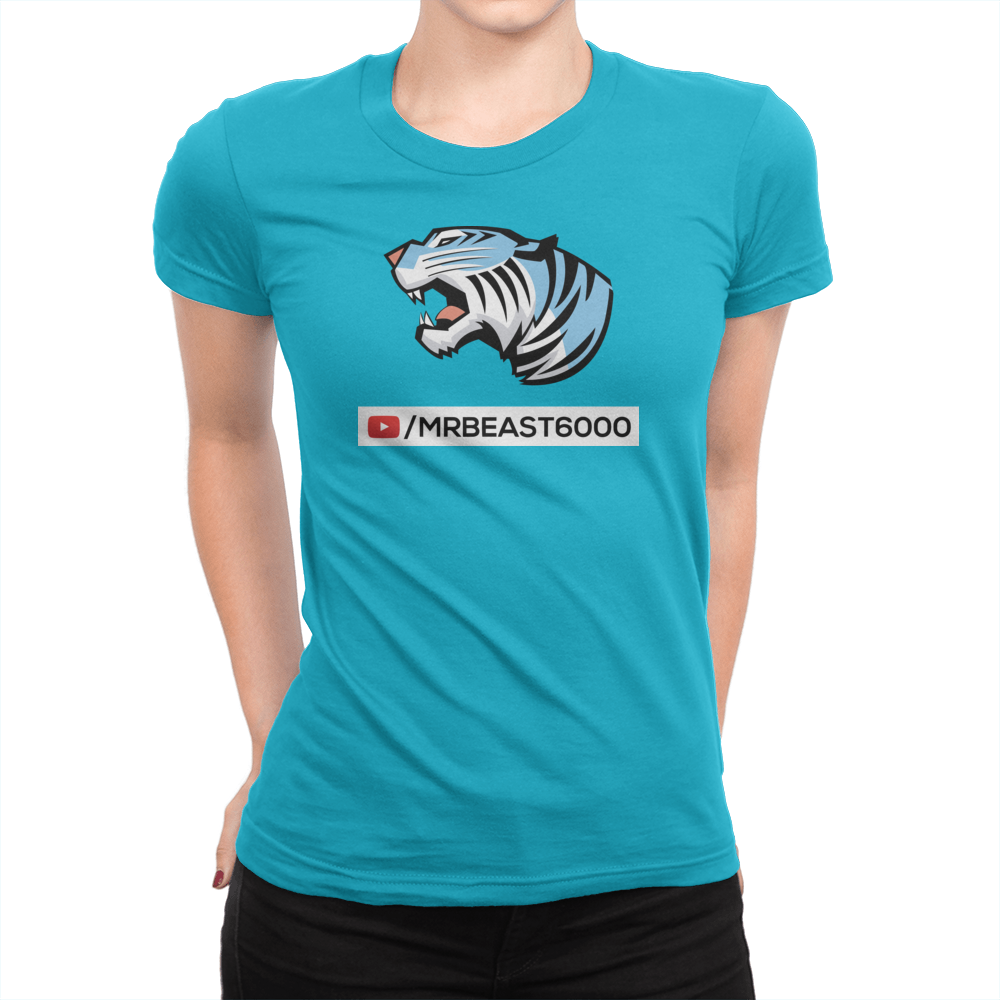 Play Button - Ladies T-Shirt Turquoise