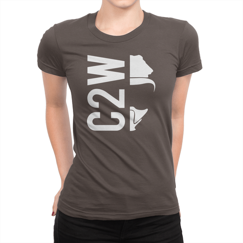 C2W - Ladies T-Shirt Chocolate