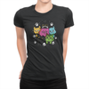 6 Kitties - Ladies T-Shirt Black