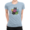 6 Kitties - Ladies T-Shirt Baby Blue