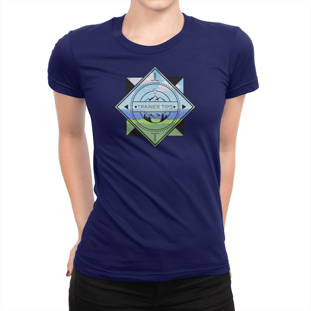 Trainer Tips Color Logo - Ladies T-Shirt Navy