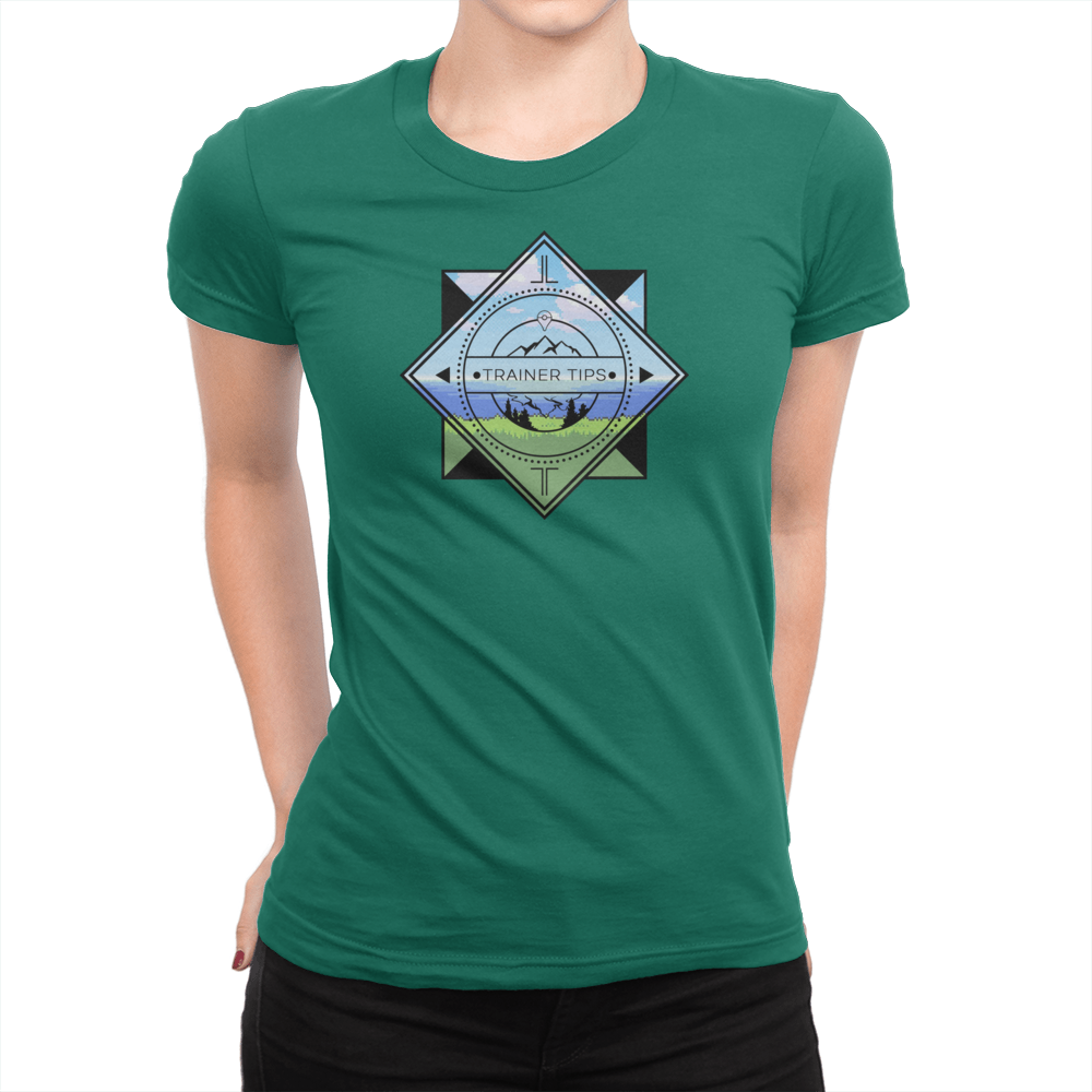 Trainer Tips Color Logo - Ladies T-Shirt Kelly