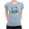 Trainer Tips Color Logo - Ladies T-Shirt Baby Blue