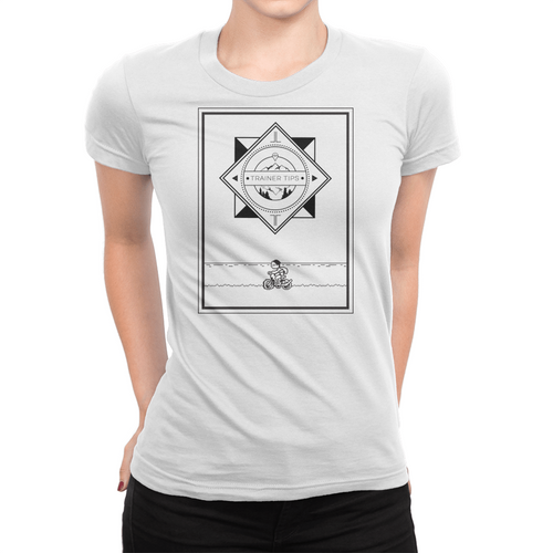 Bike Logo - Ladies T-Shirt White