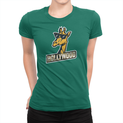 London Hollywood Giraffe - Ladies T-Shirt Kelly