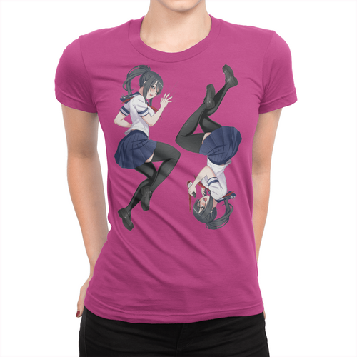 Two Sides - Ladies T-Shirt Berry