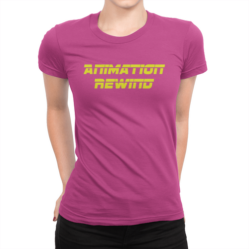 Animation Rewind - Ladies T-Shirt Berry