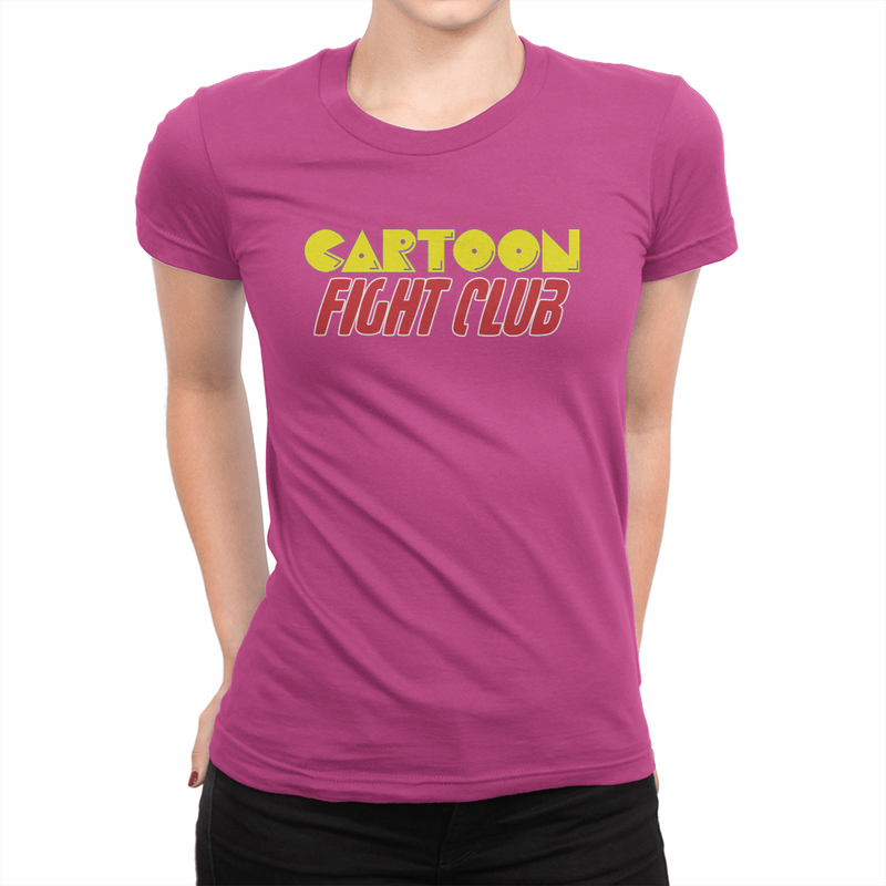Cartoon Fight Club - Ladies T-Shirt