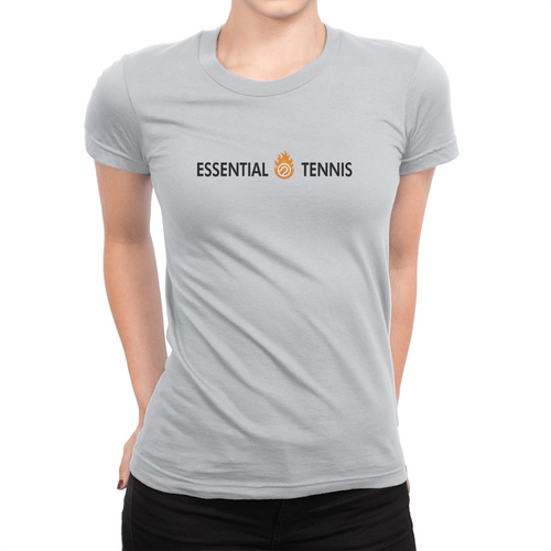 Essential Tennis Logo - Ladies T-Shirt Ash