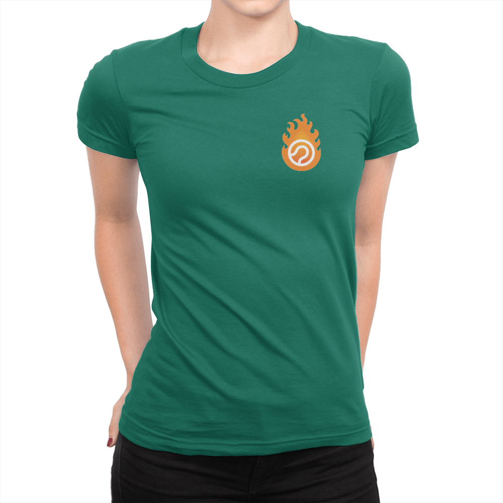 Pocket Logo - Ladies T-Shirt Kelly