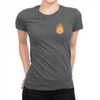 Pocket Logo - Ladies T-Shirt Dark Grey Heather