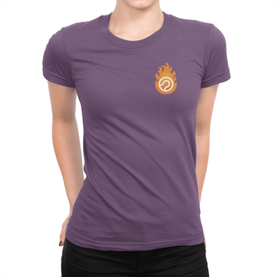 Pocket Logo - Ladies T-Shirt Team Purple