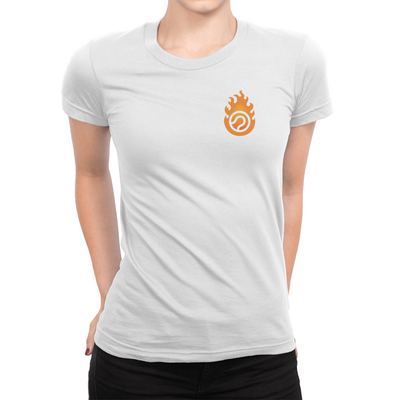 Pocket Logo - Ladies T-Shirt White