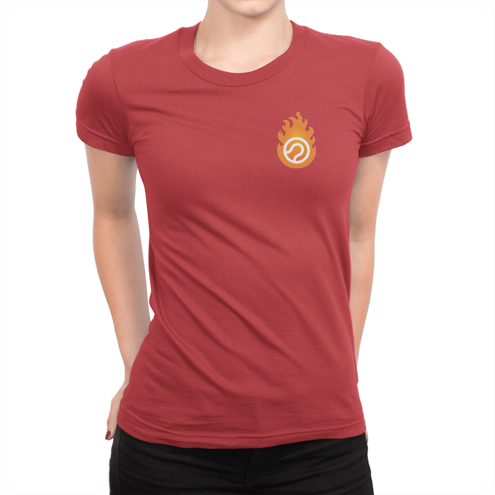 Pocket Logo - Ladies T-Shirt Red