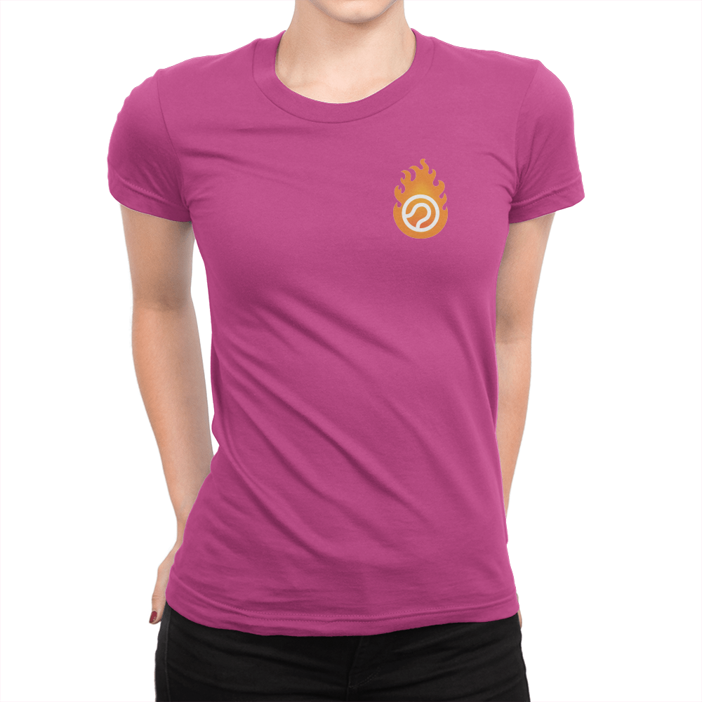 Pocket Logo - Ladies T-Shirt Berry