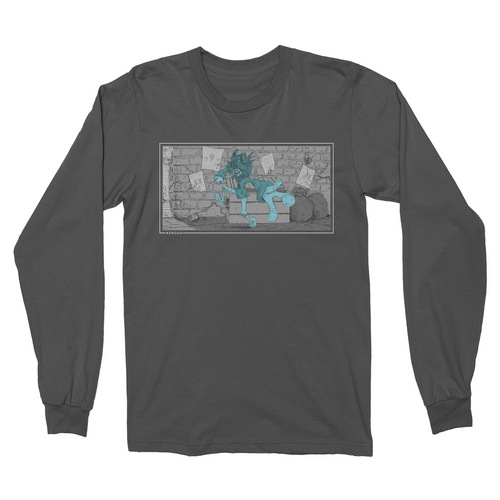 Alleyway Walk Longsleeve (White Ink)